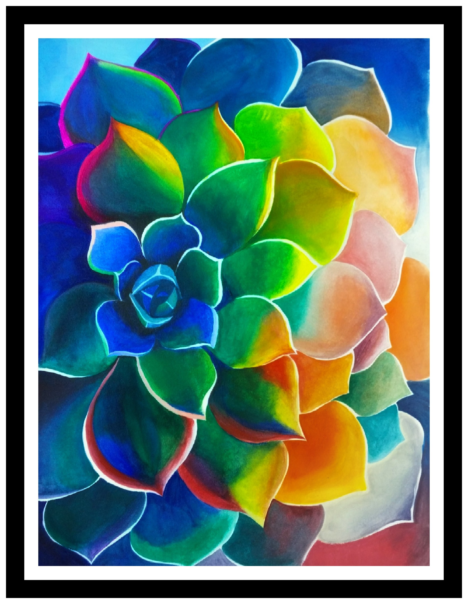 Colourful Flower Painting