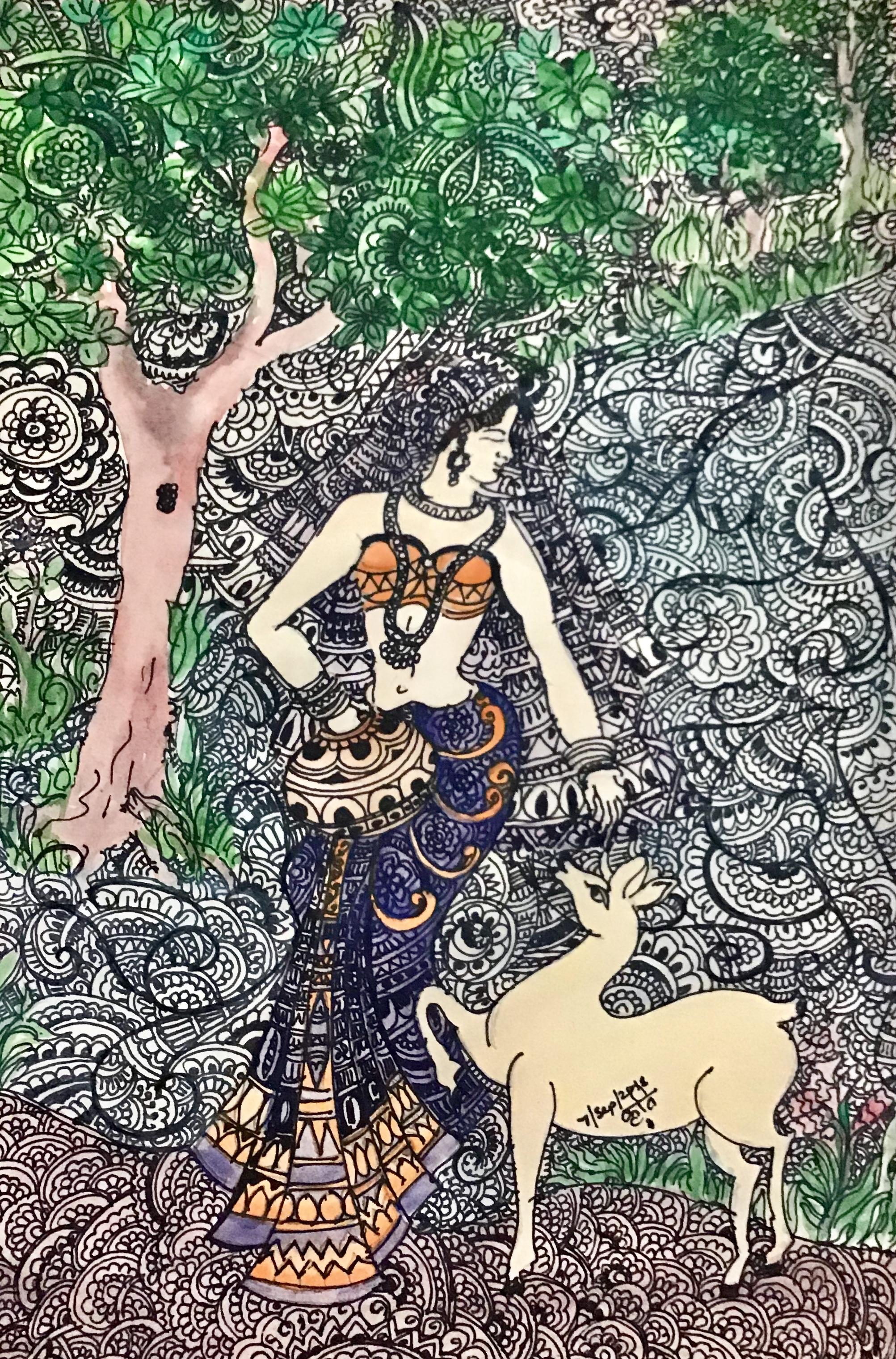 Lady Doodle Art