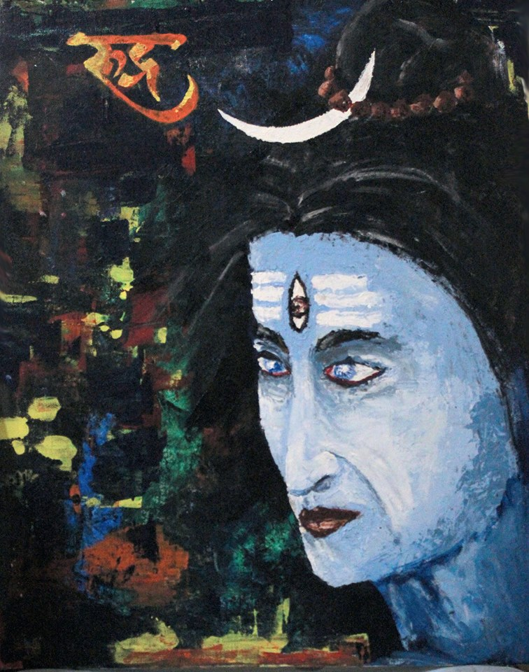 Lord Shiva Painting Acrylic