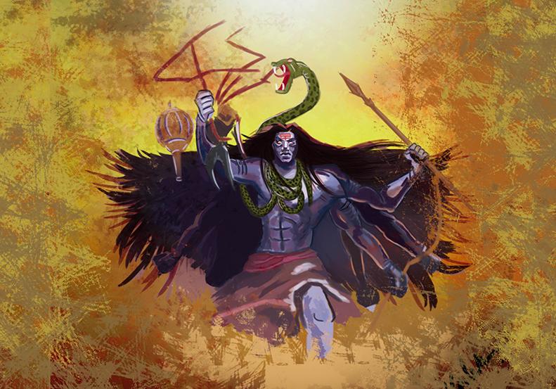 Shiva Digital Painting