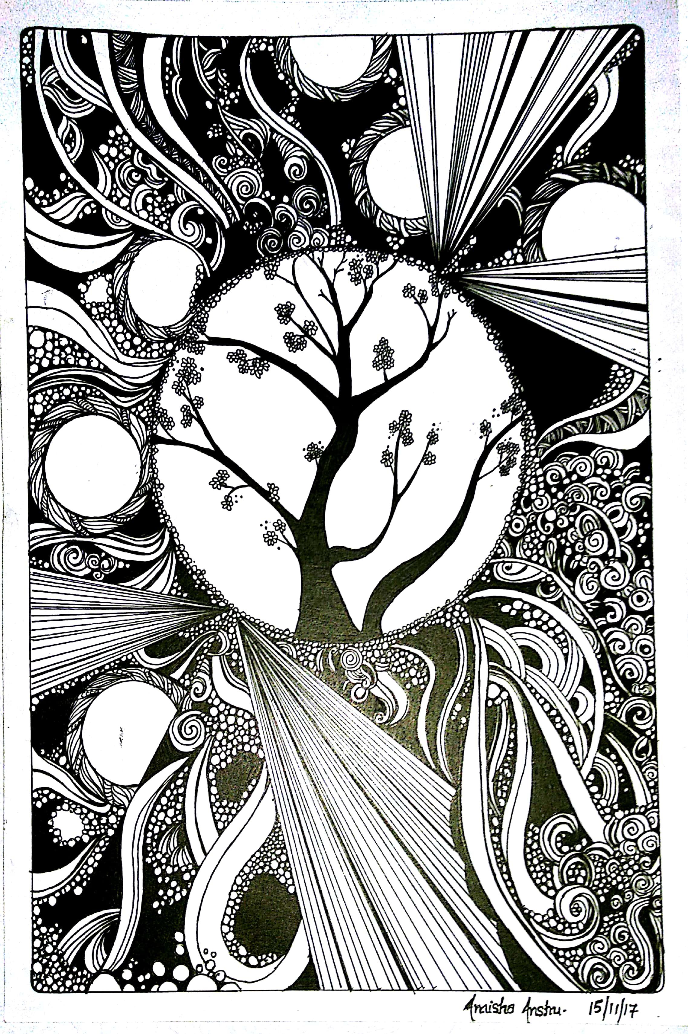 Spring Splendor Doodle Art