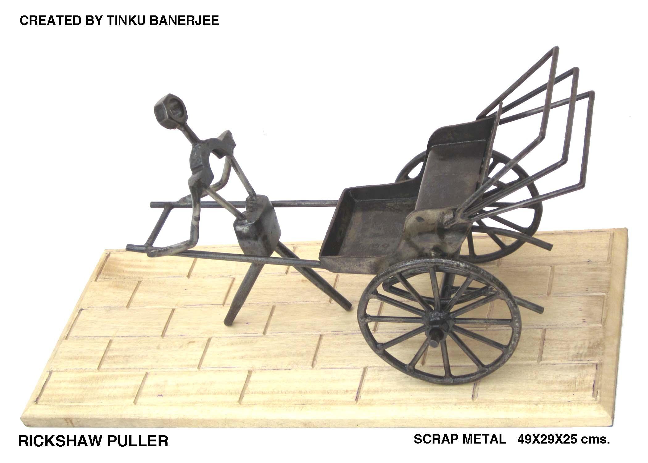 Rickshaw Puller Sculptures