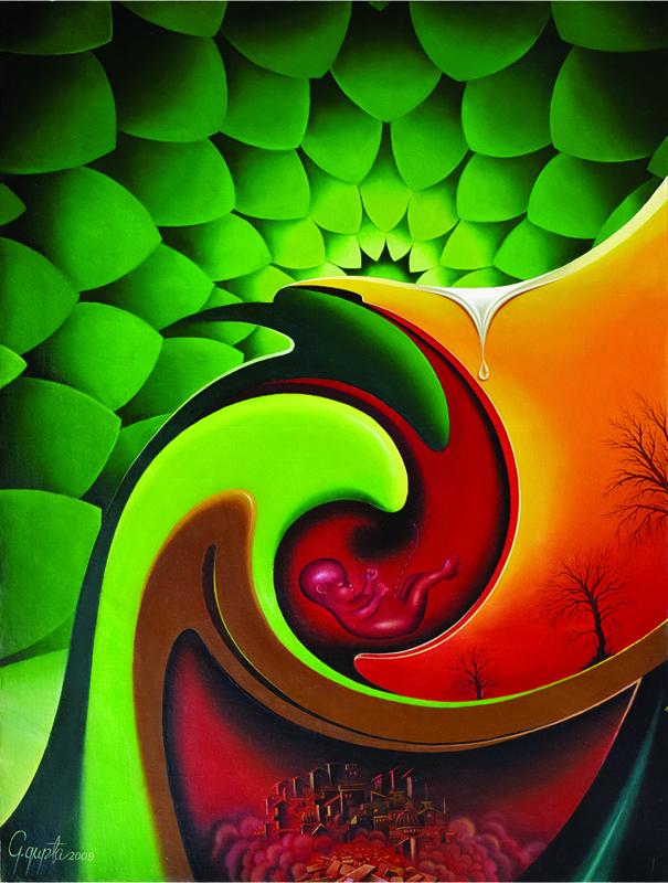 Canvas Modern Art by Giraraj Gupta