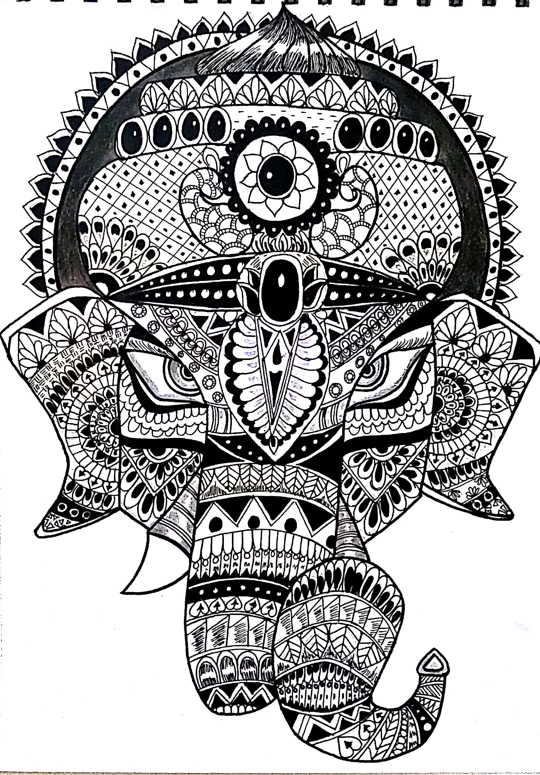 Zentangle Doodle Art Ganapati