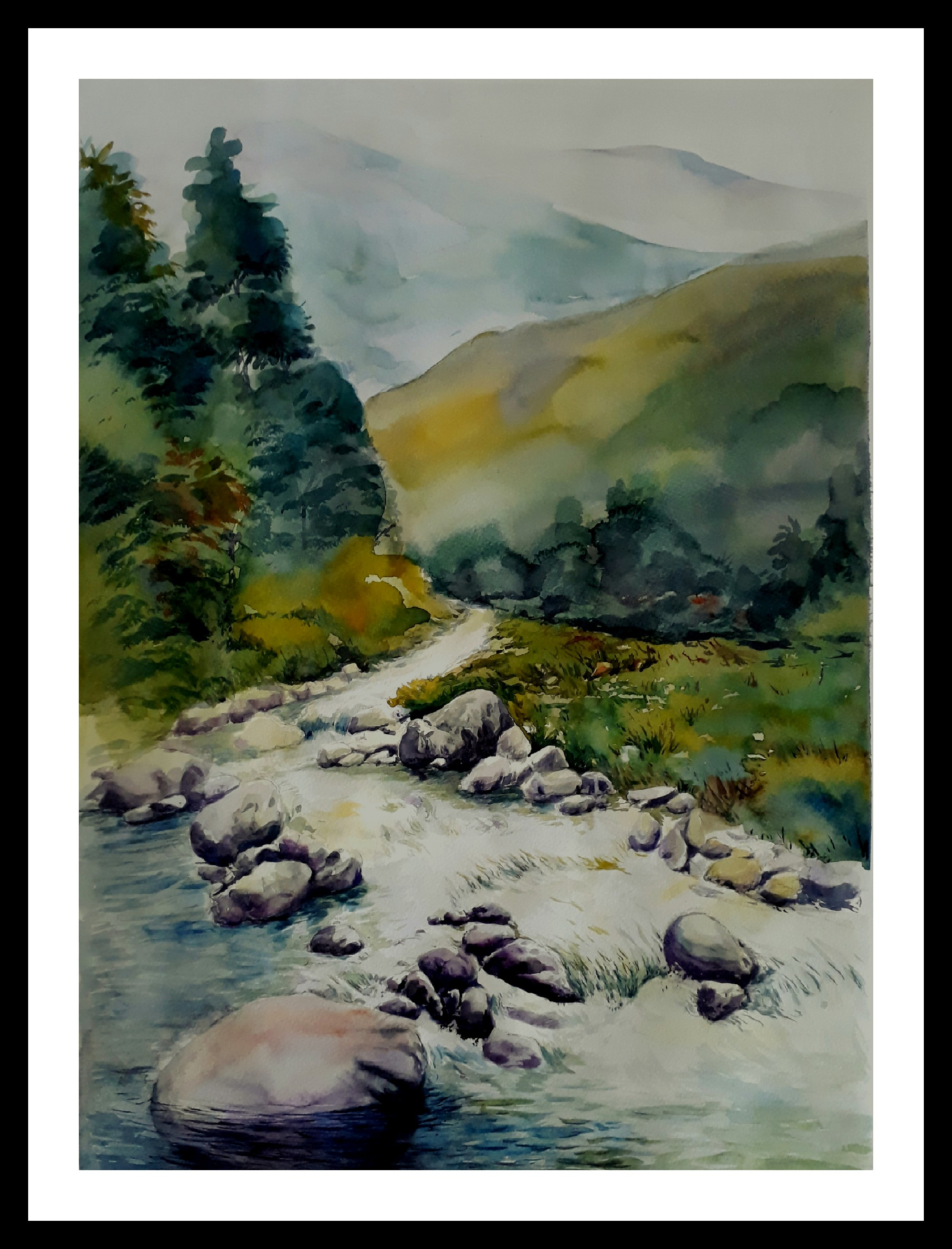 Landscape River Painting