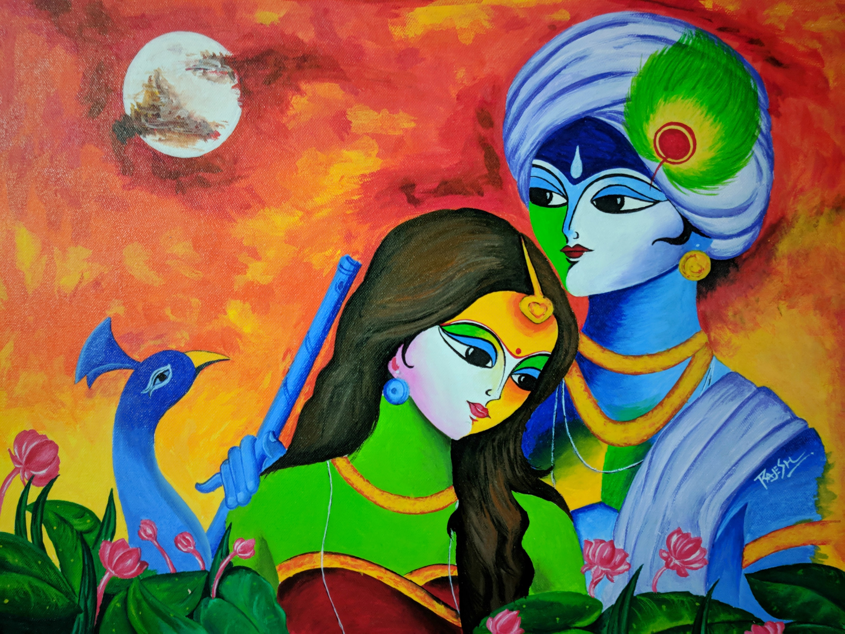 Radha Krishna Canvas Painting