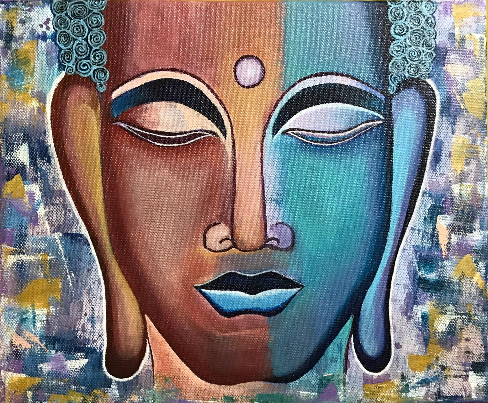 Buddha Acrylic Canvas Painting