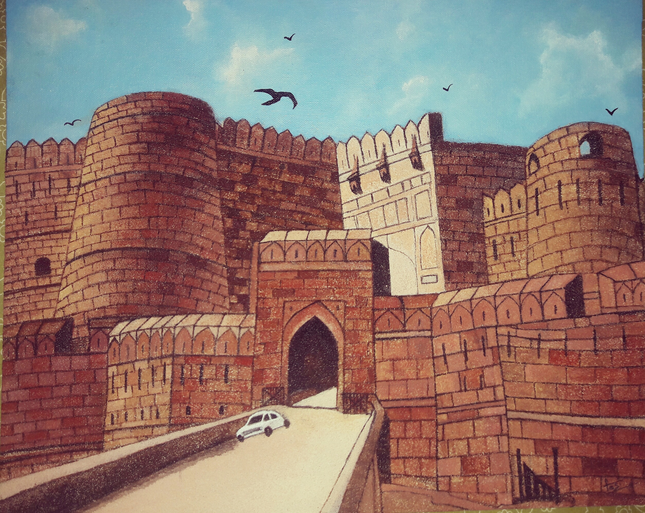 Agra Fort  Fine Art by Mohammed Fasiuddin