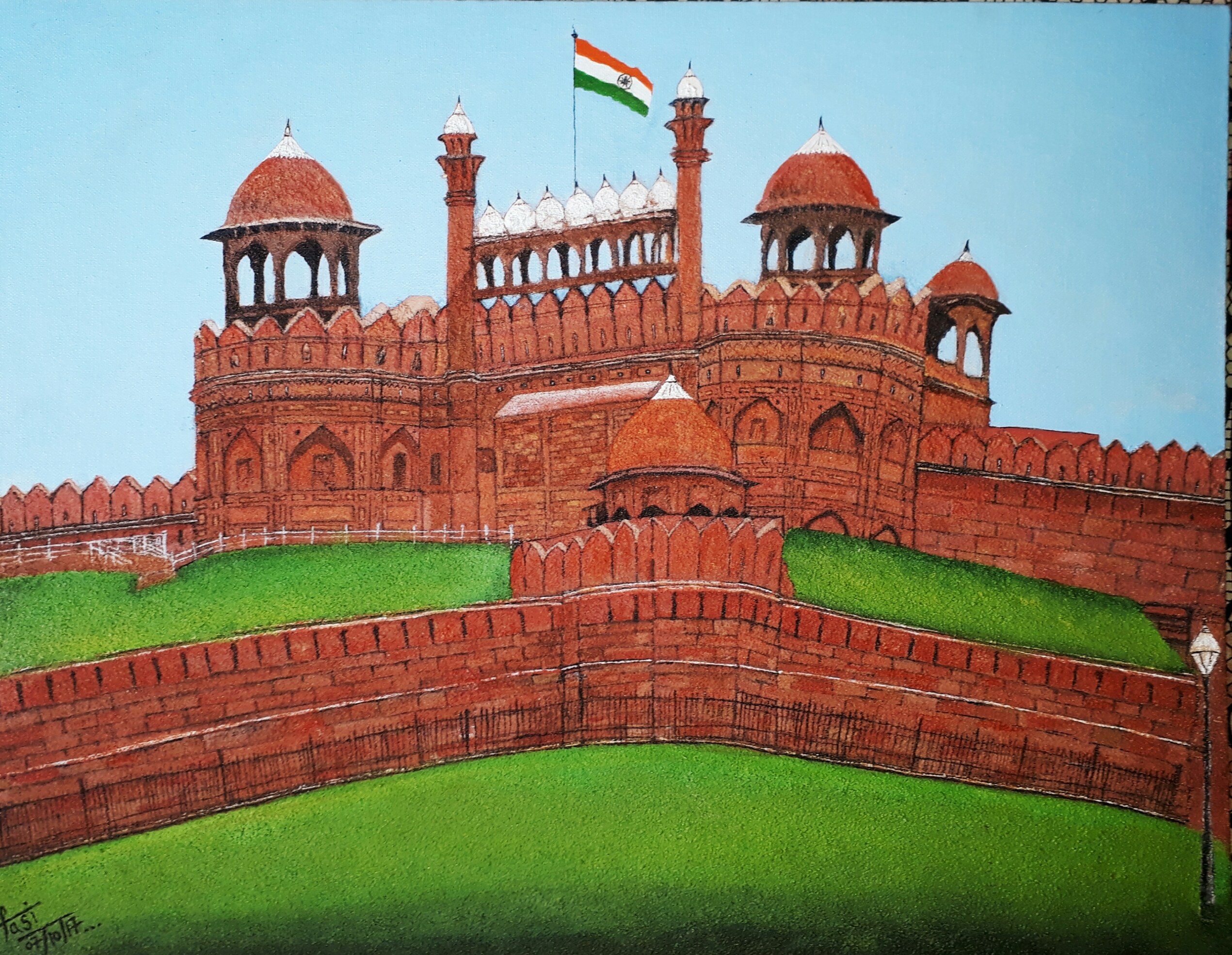 Red Fort  Fine Art