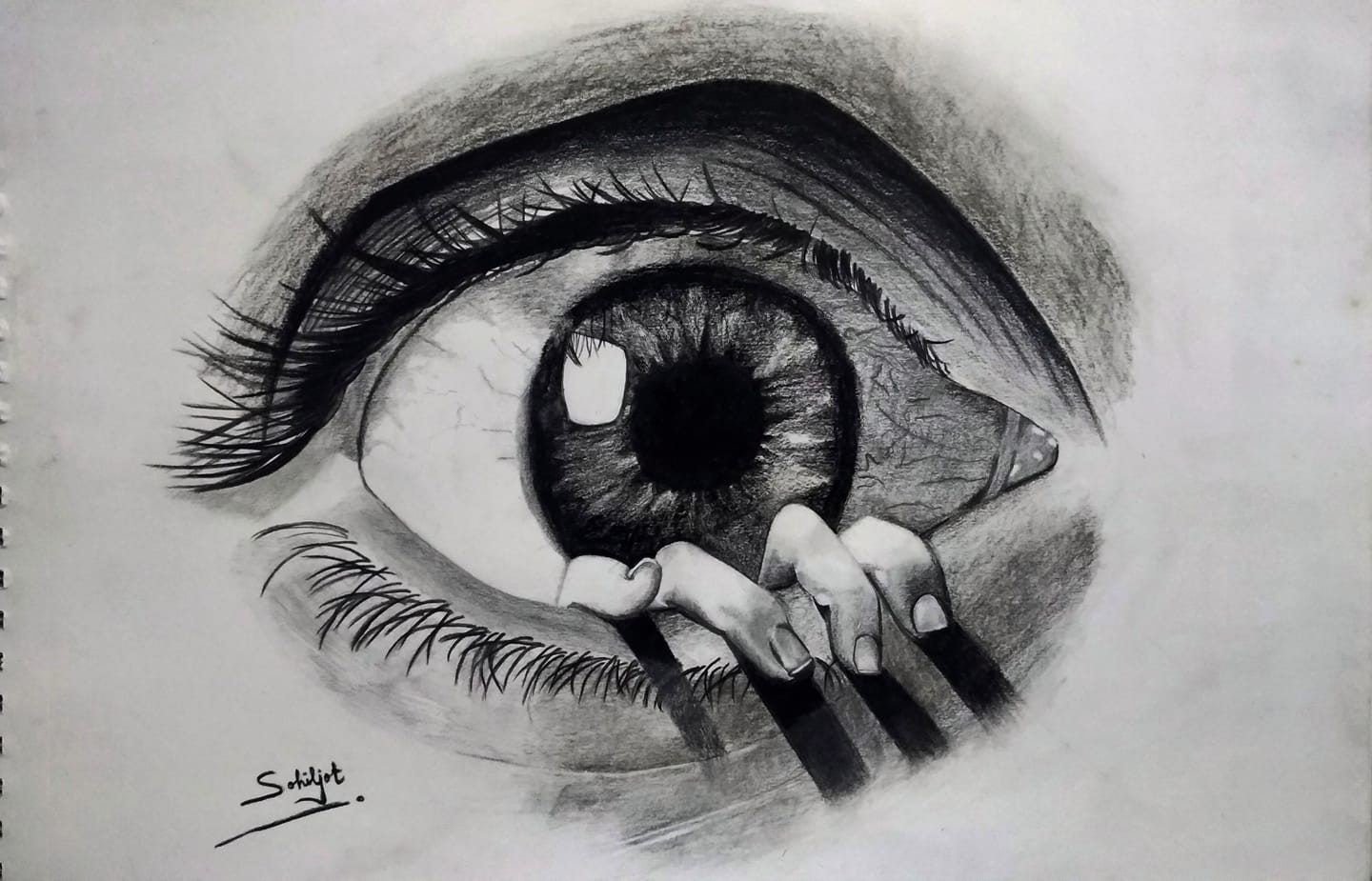 Realistic Eye Sketch