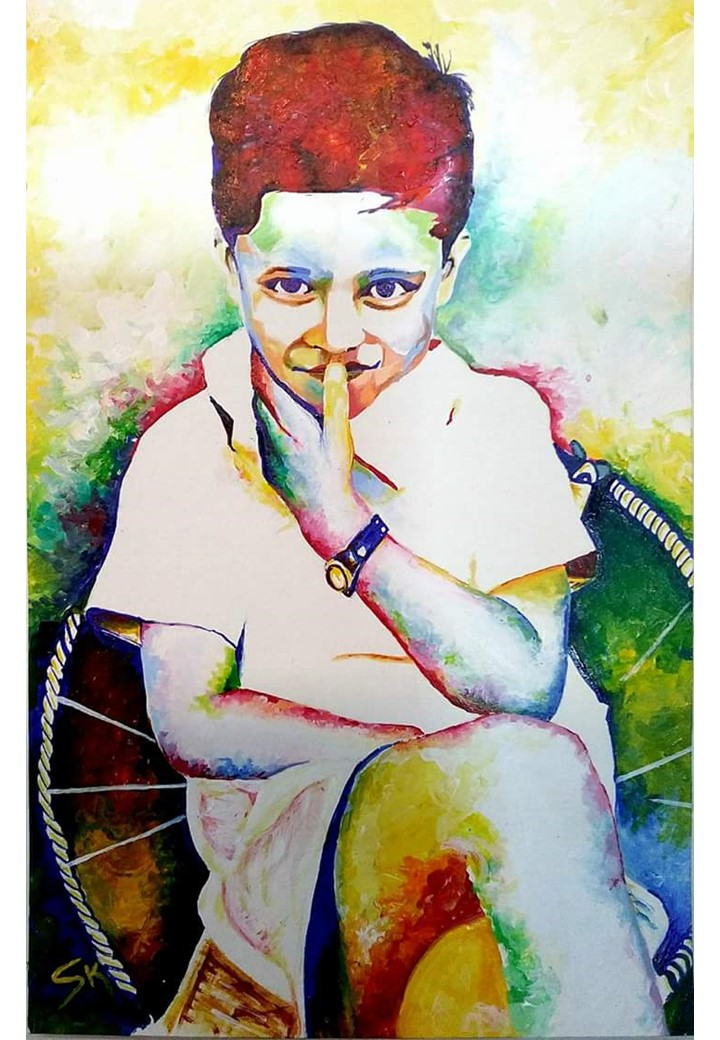 Portrait Painting Of a Kid
