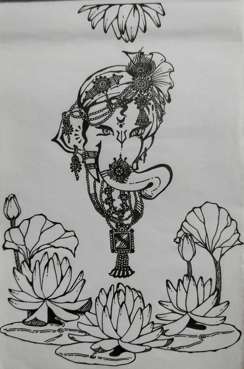 Ganesha Doodle Art