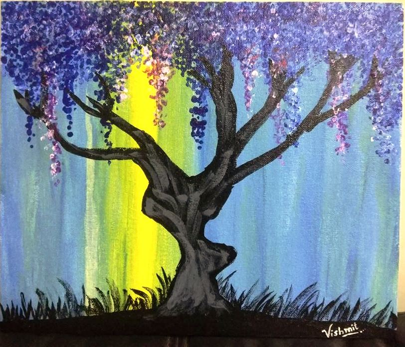 Abstract Painting Of Tree
