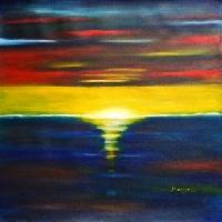 Twilight Sunset Landscape
