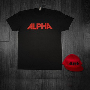 ALPHA Bundle - Black Shirt w/ Red Text - Red Hat w/ Black Text