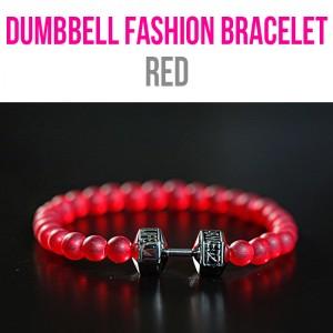 Dumbbell Fashion Bracelet Red