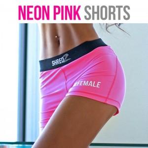 neon pink shorts