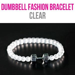 dumbbell fashion bracelet clear