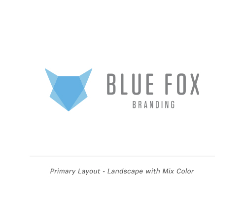 Blue Fox Branding Primary Layout
