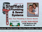 Website for Sheffield Plumbing and Sewer Systems