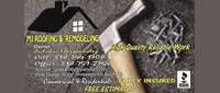 Website for MJ Roofing & Remodeling, LLC
