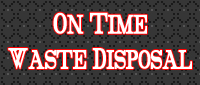 Website for On Time Waste Disposal, Inc.