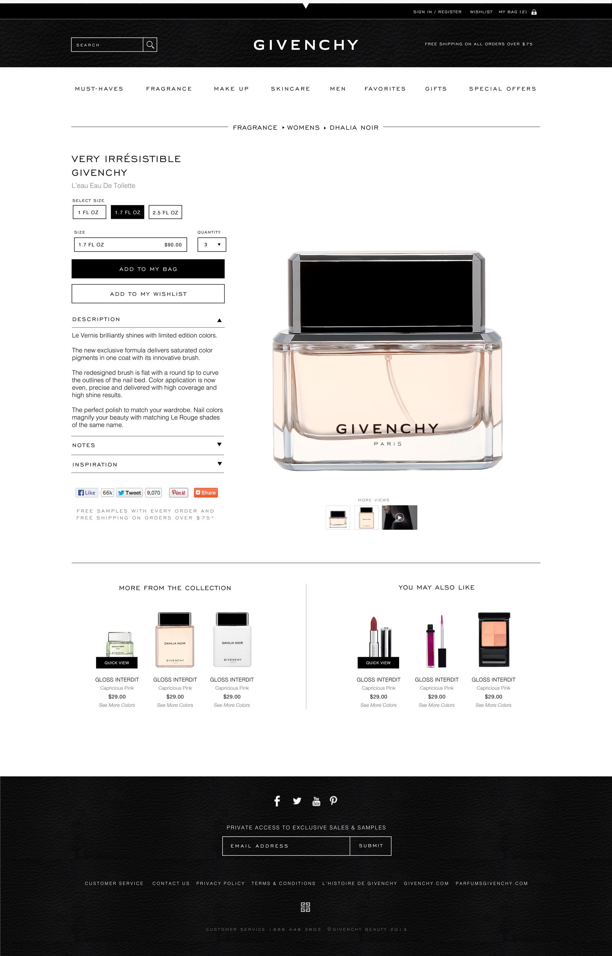 Givenchy Beauty Shrimpton Agency