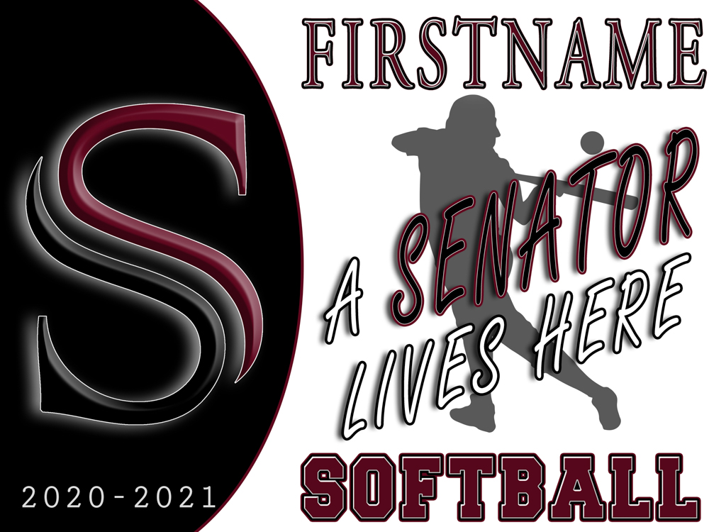 2020-21 SHS Yard Signs with Sport or Activity | Yard_Sign_A_Senator_Lives_Here_SOFTBALL_With_Picture_FIRSTNAME.jpg
