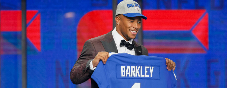 9f7a724fc09 Saquon Barkley  NFL Vegas Prop Bets   Daily Fantasy DraftKings ...