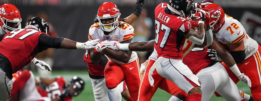 626c3ac04f7 NFL Week 3 Fantasy RB Breakdown  Will Kareem Hunt Finally Break Out vs.  49ers