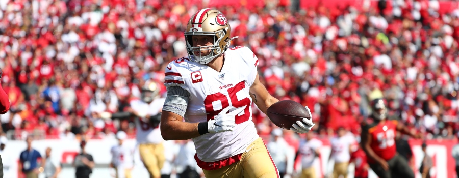 nfl dfs week 3-tight ends-draftkings and fanduel picks-george kittle