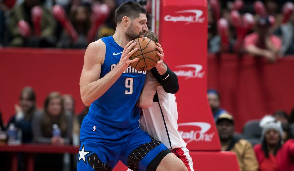 nba-draftkings-dfs-saturday august 22-nikola vucevic-orlando magic