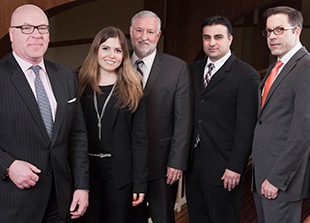 FROM LEFT: Mike Volo, Emily Wrightson, Jeff Levy, Farhad Mirzada, Mike Sanders