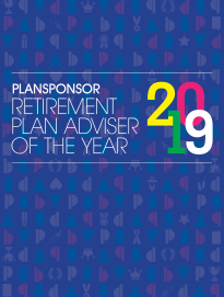 2019 PLANSPONSOR Retirement Plan Adviser of the Year