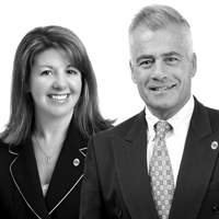 Left to Right: Jamie Gabriel, chief human resources officer; Jack Clancy, CEO