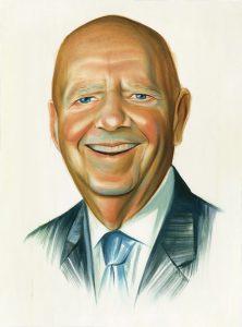 Portrait of Bruce Glasscock by Chris Buzelli