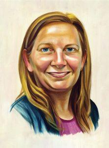 Portrait of Cheryl Braun by Chris Buzelli