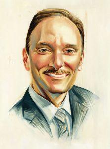 Portrait of Douglas Yacenda by Chris Buzelli