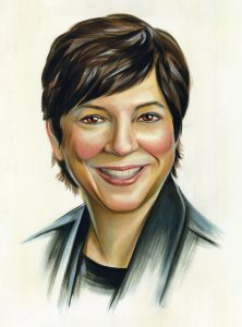 Portrait of Joanne Farrere by Chris Buzelli