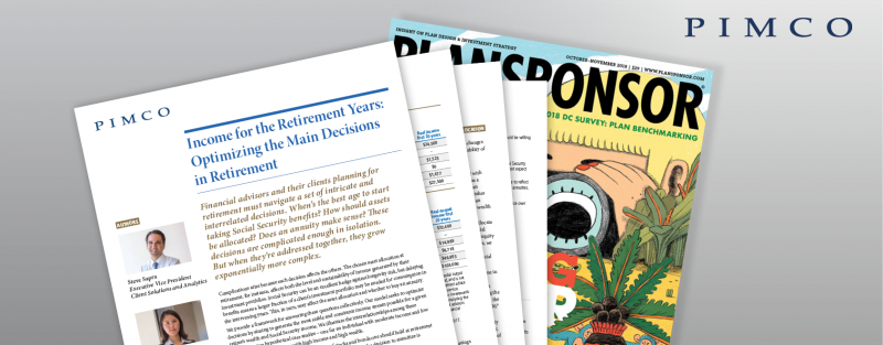Income for the Retirement Years: Optimizing the Main Decisions in Retirement