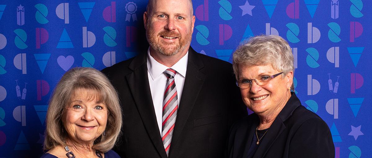 Wells Fargo, Joyce Thompson, Jason McQueen, Mary Lou Scribner (Photograph by James Rajotte)
