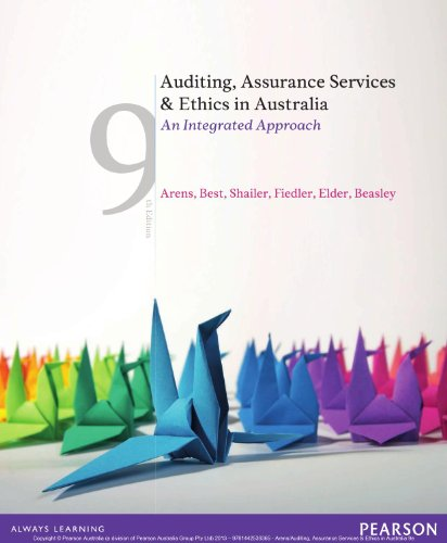 Auditing Assurance Services and Ethics in Australia an Integrated Approach