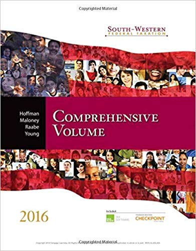 South Western Federal Taxation 2016 Comprehensive