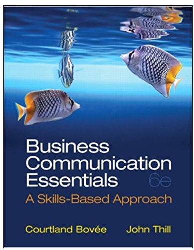 Business Communication Essentials a skill based approach