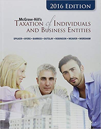 Taxation of Individuals and Business Entities 2016