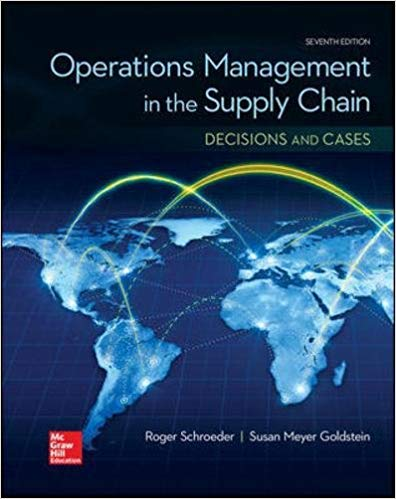 Operations management in the supply chain decisions and cases