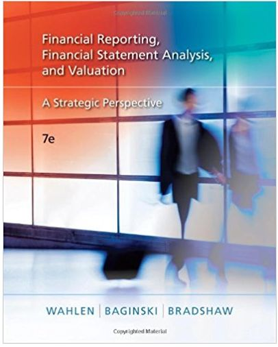 Financial reporting, financial statement analysis and valuation a strategic perspective