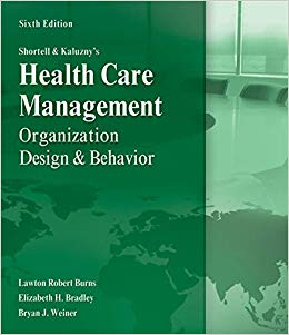 Healthcare Management Organization Design and Behavior
