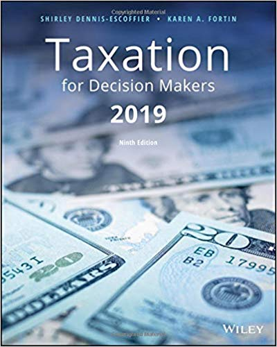 Taxation for Decision Makers 2019