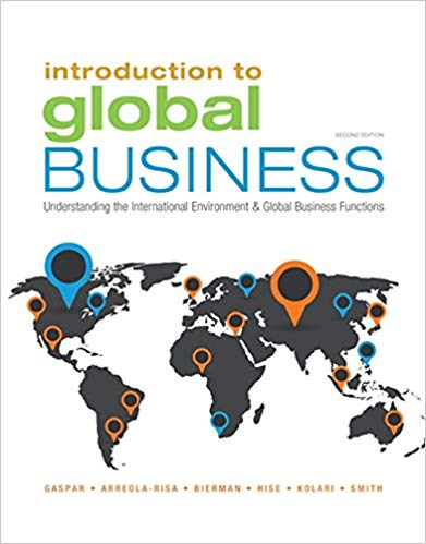 Introduction to Global Business Understanding the International Environment & Global Business Functi